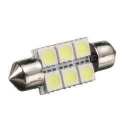 LED sufitka 39mm 6x 3SMD bílá