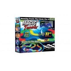 Magic Tracks - svítící autodráha - Mega balení 220 dílů