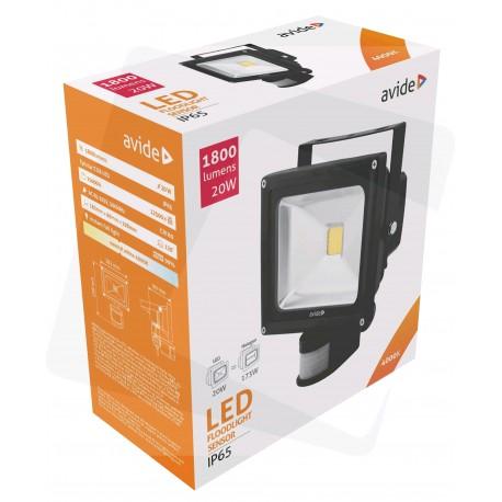 LED reflektor 20W s PIR pohybovým čidlem