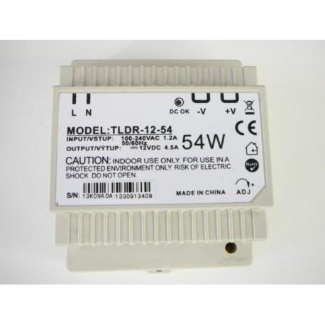LED zdroj 12V 54W na DIN lištu - TLDR-12-54