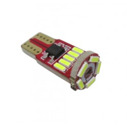 LED žárovka canbus T10 W5W 15x SMD bílá
