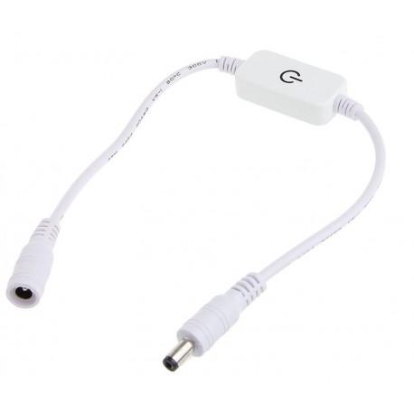 Dotykový LED stmívač D1 kabelový bílý