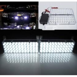 LED stroboskop 2x48 LED bílý
