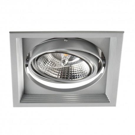 Podhledové svítidlo AR111 ARTO 1L-SR stříbrné - ARTO 1L-SR stříbrný AR111 čtverec podhledový rámeček