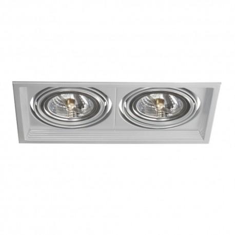 Podhledové svítidlo AR111 ARTO 2L-SR stříbrné - ARTO 2L-SR stříbrný AR111 čtverec pro 2 žárovky