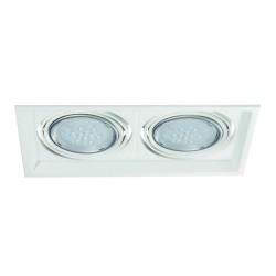 Podhledové svítidlo AR111 ARTO 2L-W bílé - ARTO 2L-W bílý AR111 čtverec pro 2 žárovky