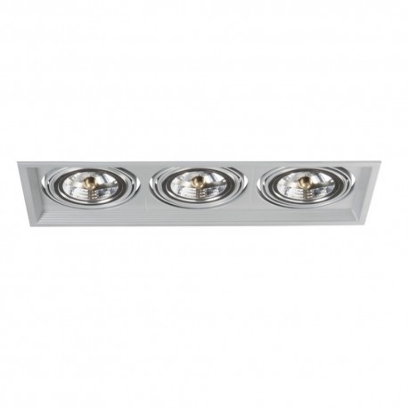 Podhledové svítidlo AR111 ARTO 3L-SR stříbrné - ARTO 3L-SR stříbrný AR111 čtverec pro 3 žárovky