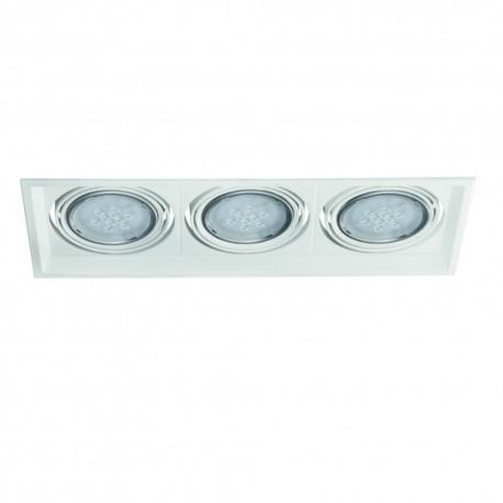 Podhledové svítidlo AR111 ARTO 3L-W bílé - ARTO 3L-W bílý AR111 čtverec pro 3 žárovky