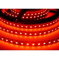 LED pásek 9.6W, 120 LED, Zalitý IP 50 - Červený