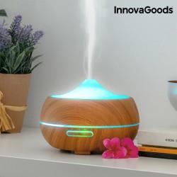 Zvlhčovač Vzduchu s Aromadifuzérem LED Wooden-Effect InnovaGoods