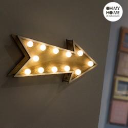 Dřevěná Dekorační Šipka Oh My Home (12 LED)