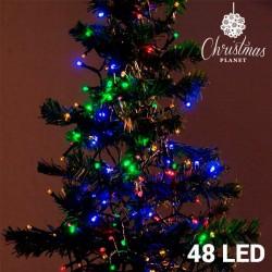 Barevné Vánoční Osvětlení (48 LED)