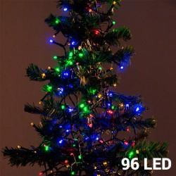 Barevné Vánoční Osvětlení (96 LED)