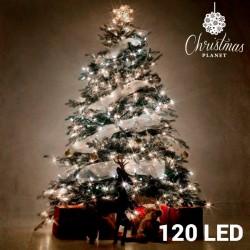 Bílé Vánoční Osvětlení (120 LED)