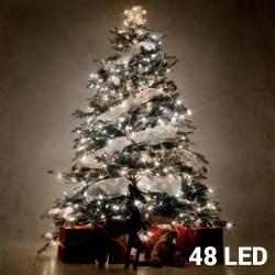 Bílé Vánoční Osvětlení (48 LED)