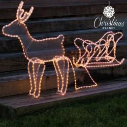 Vánoční Sob se Sáněmi (504 LED)