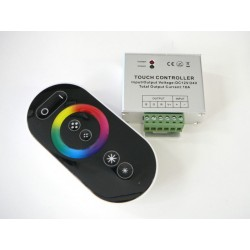 Dálkový dotykový LED radio ovladač RF8 pro RGB LED pásky černý