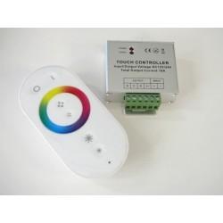 Dálkový dotykový LED radio ovladač RF8 pro RGB LED pásky bílý