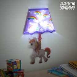 LED Nástěnná Samolepka Duhový Jednorožec Junior Knows