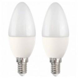 LED Žárovka Svíčka MegaLed CF-50WP2 5W E14 2700K 390 lm (2 pcs) Bílý