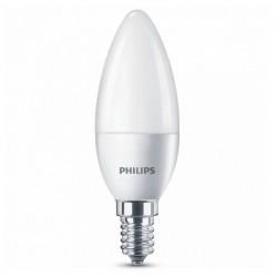 LED Žárovka Svíčka Philips 5,5W A+ 240 V Bílý