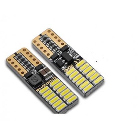 LED žárovka T10 W5W 24x SMD 9-30V canbus bílá