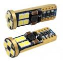 LED žárovka T10 W5W 12x SMD 3030 9-30V canbus bílá