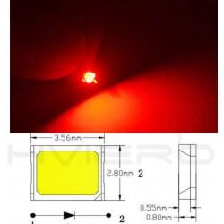 LED smd dioda 2835 červená 60mA 0.2W