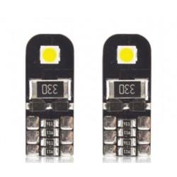 LED žárovka T10 W5W 2x SMD 3030 12V canbus bílá
