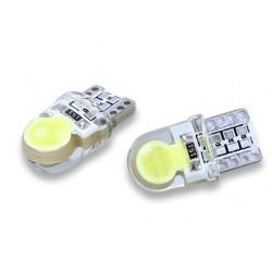 LED žárovka T10 W5W COB2 boční svit bílá