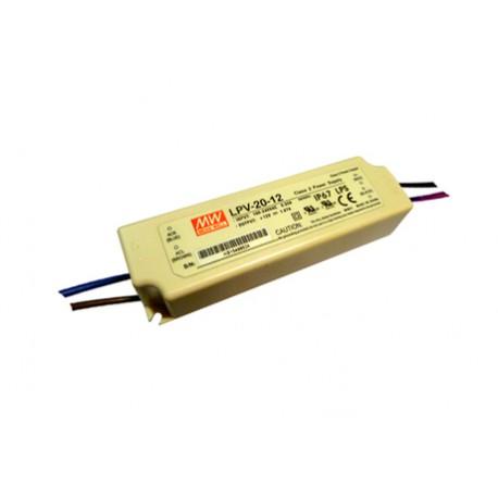 LED zdroj 24V 20W Mean Well LPV-20-24 IP67