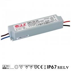 LED zdroj 24V 35W GLP GPV-35-24 IP67