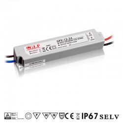 LED zdroj 24V 12W GLP GPV-12-24 IP67