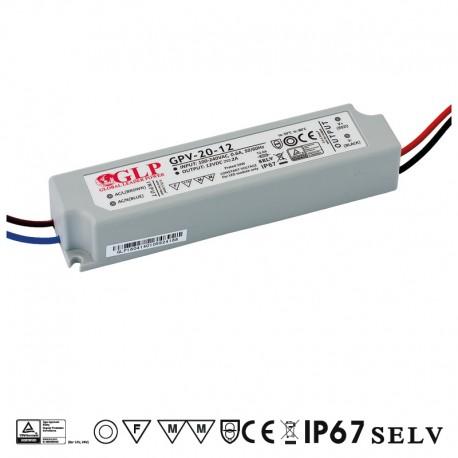 LED zdroj 12V 20W GLP GPV-20-12 IP67