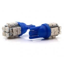 LED žárovka T10 W5W 20x SMD modrá