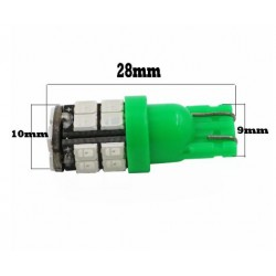 LED žárovka T10 W5W 20x SMD zelená