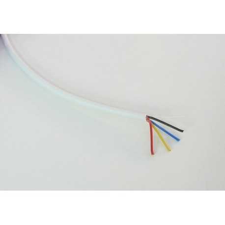 Kabel RGB kulatý 4x0,19mm