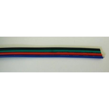 Plochý RGB kabel 4x0,25mm