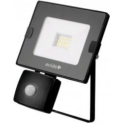 SMD LED reflektor 10W Slim s PIR pohybovým čidlem