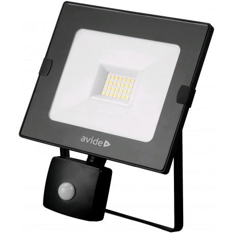 SMD LED reflektor 20W Slim s PIR pohybovým čidlem