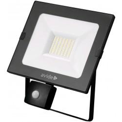 SMD LED reflektor 30W Slim s PIR pohybovým čidlem