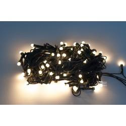 Vánoční LED řetěz - osvětlení - Teple Bílé (retro) - 100 LED 10 metrů