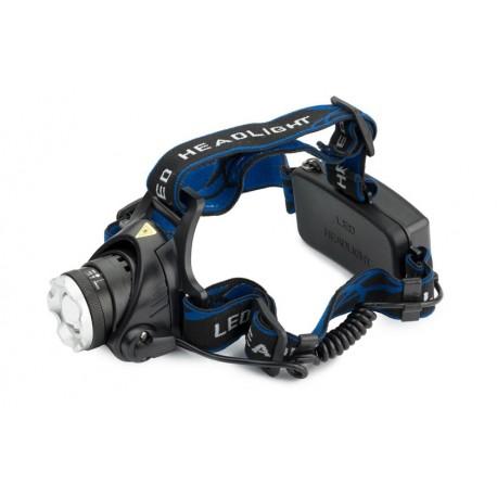 LED čelovka CREE Q5 - Zoom vč. dobíjecích baterií