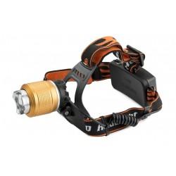 LED čelovka 2x CREE Q5 - Zoom vč. dobíjecích baterií