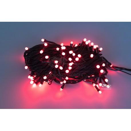 Vánoční LED řetěz - osvětlení - Červené - 210 LED 21 metrů