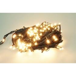 Vánoční LED řetěz - osvětlení - teplé bílé - 210 LED 21 metrů