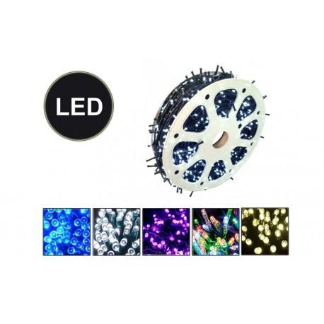 Venkovní LED řetěz - osvětlení - Fialové - 1000 LED 100 metrů