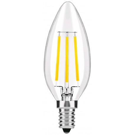 LED žárovka E14 4W FILAMENT retro svíčka - Čirá