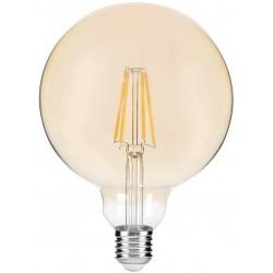 Stmívatelná LED žárovka E27 8W G95 2400K retro - Kouřová