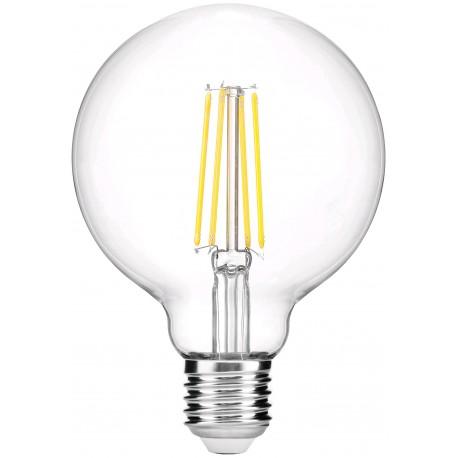 LED žárovka E27 8W G95 2700K retro - Čirá